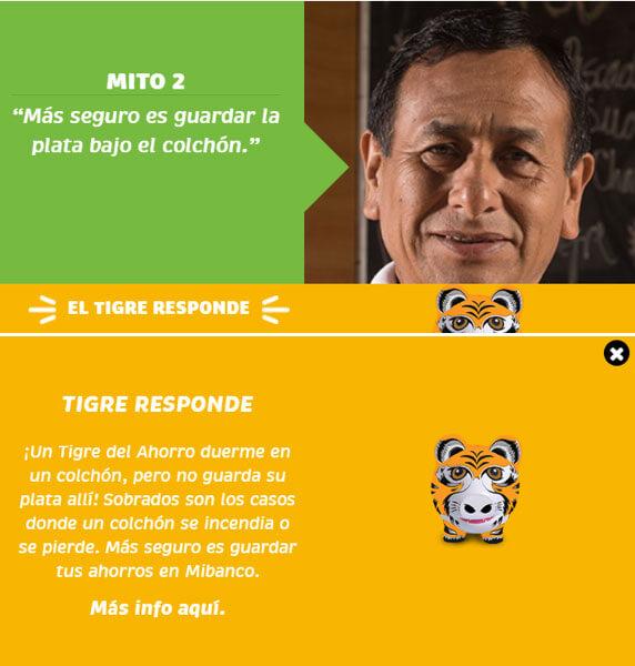 Example of Mibanco's myth busting