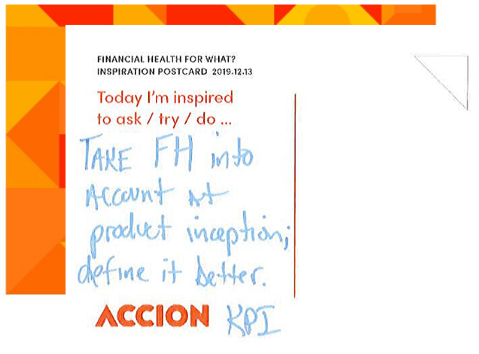 Lessons learned from Accion financial health event