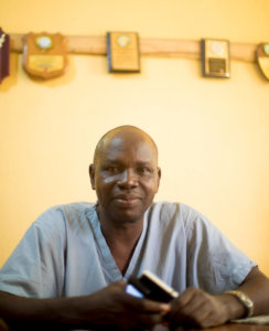 Dr. Akinpelu, a doctor and owner of a small, private hospital in Nigeria