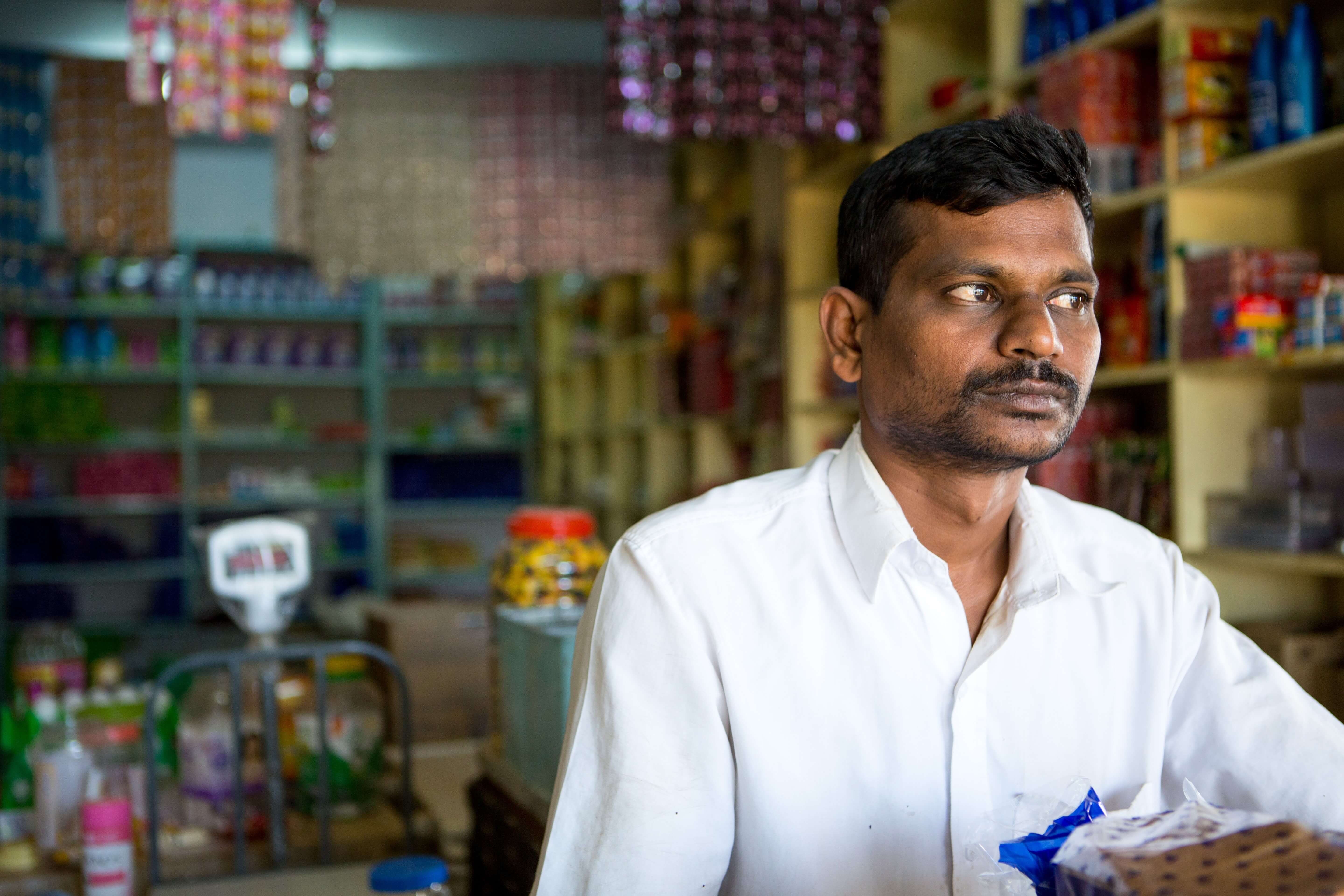 Lakshiminarayana is a client of Aye Finance in Bengaluru, India. Like many others indicated in response to preliminary client surveys, having digitized records enabled him to get the funding that he needed to purchase more inventory and expand his shop. As he continues to grow his business, Lakshimarayanana even hopes to branch into wholesale distribution and increase his income and opportunities.