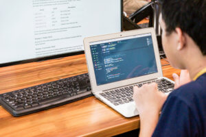 coding student learning at Hacktiv8