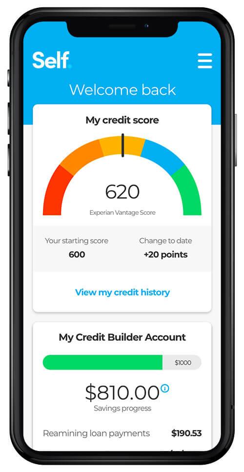A screenshot of Self's user-friendly app