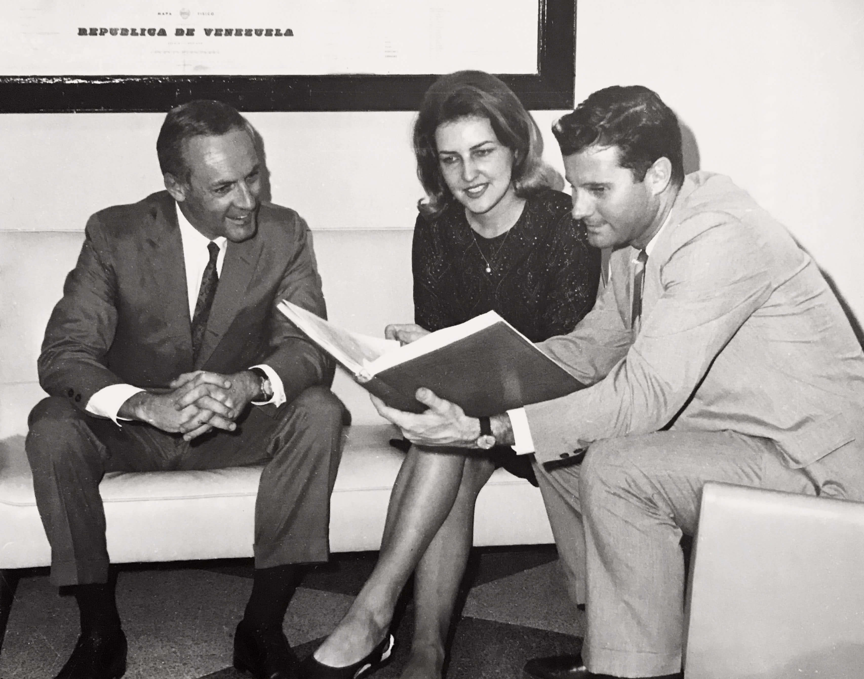 Winnie and Joe Blatchford with Bob Williams